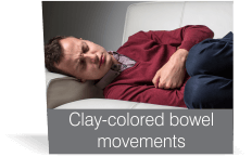 Clay-colored bowel movements